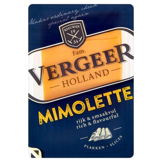 Vergeer Holland Mimolette 40+ polotvrdý, polotučný syr 100 g
