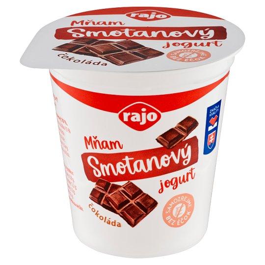 Rajo Mňam Duo Creamy Chocolate Yogurt with Chocolate Pieces 145 g