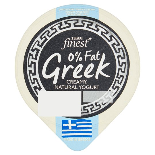 Tesco Finest Greek Creamy Natural Yoghurt 0% Fat 150 g