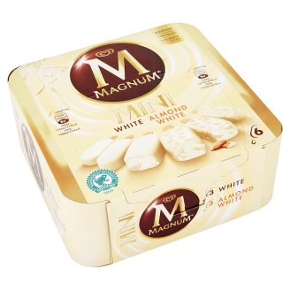 Magnum Mini White and Almond White 6 x 50 g
