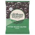The Grower's Harvest Čierne vykôstkované olivy v slanom náleve 200 g