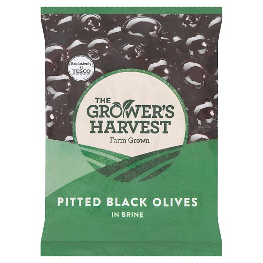 The Grower's Harvest Pitted Black Olives in Brine 200 g