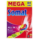 Somat All in 1 Lemon & Lime Tablets for Automatic Machine Dishwashing 84 pcs 1512 g
