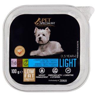 Tesco Pet Specialist Premium Light ragú s morčacinou, pečeňou a zeleninou 100 g
