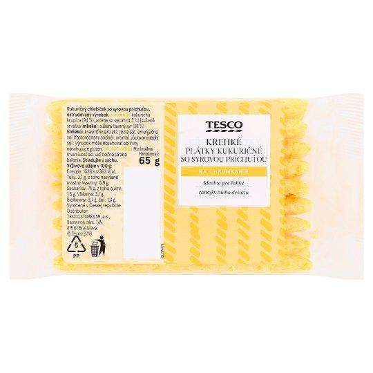 Tesco Krehké plátky kukuričné so syrovou príchuťou 65 g