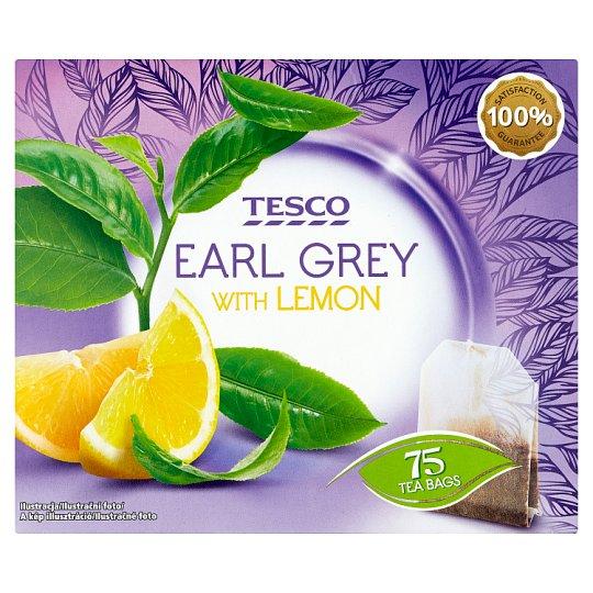 Tesco Earl grey čierny čaj s citrónovou príchuťou 75 x 1,75 g