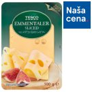 Tesco Emmentaler polotvrdý zrejúci plnotučný syr plátky 100 g