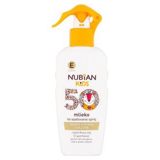 Nubian Kids mlieko na opaľovanie sprej SPF 50 200 ml