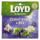Loyd Herbal-Fruit Tea with Black Currant Flavour with Elderflower 20 x 2 g