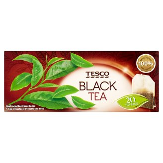 Tesco Čierny čaj porciovaný 20 x 2 g