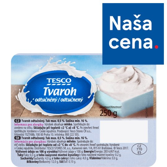Tesco Defatted Curd 250 g