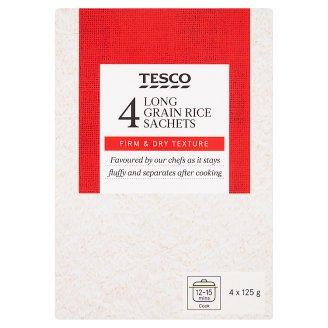 Tesco Ryža dlhozrnná vo varných vreckách 4 x 125 g