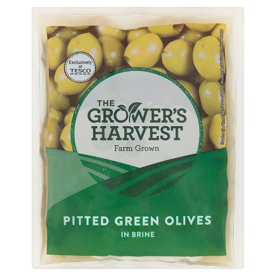 The Grower's Harvest Pitted Green Olives in Brine 195 g