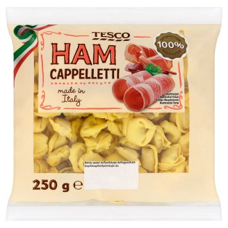 Tesco Cappelletti Egg Pasta Stuffed with Ham Pork and Beef 250 g