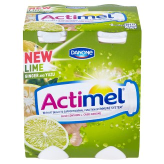 Danone Actimel Yoghurt Milk with Lime and Yuzu 4 x 100 g
