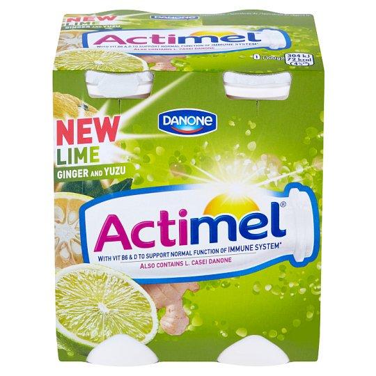 Danone Actimel Jogurtové mlieko s vitamínmi B6 a D - s limetkou a yuzu 4 x 100 g