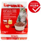 Brunos Dry Cat Food with Beef and Poultry 1 kg
