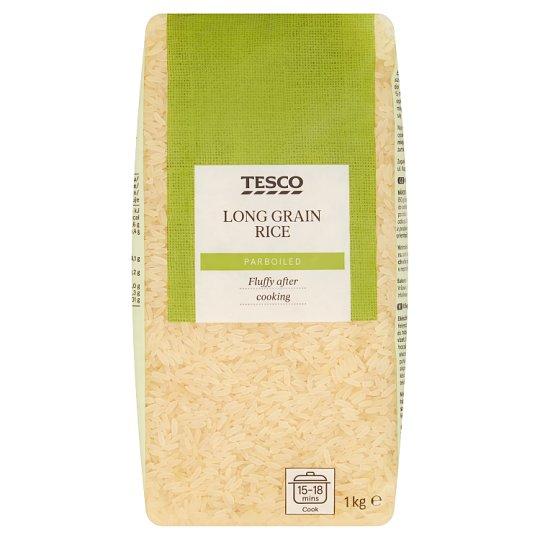 Tesco Predvarená dlhozrnná ryža 1 kg