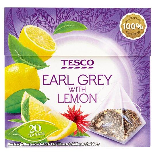 Tesco Earl grey čierny čaj s príchuťou citróna aromatizovaný porciovaný 20 x 1,8 g