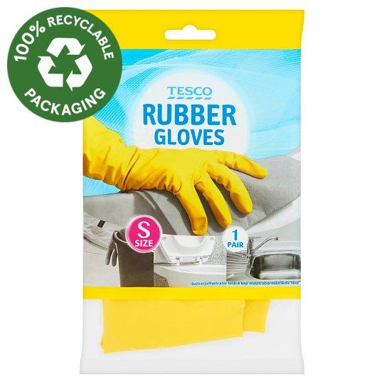 Tesco Rubber Gloves Size S 1 Pair