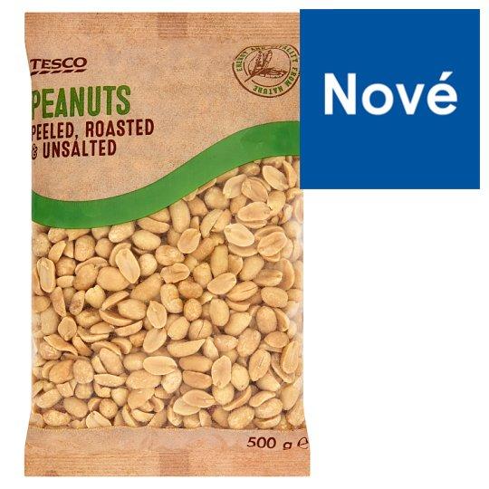 Tesco Peanuts Peeled, Roasted & Unsalted 500 g