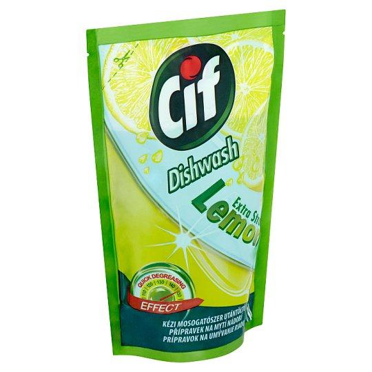 Cif Lemon Extra Strong prípravok na umývanie riadu 500 ml