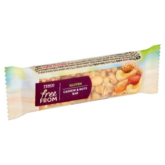 Tesco Free From Gluten Bar with Peanuts and Cashew Nuts, Half Coated 35 g