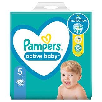 Pampers Active Baby Veľ. 5, 64 Plienok, 11-16 kg