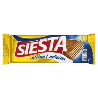 Siesta Crispy Wafers with Cocoa Filling Dipped in Milk Chocolate 35 g