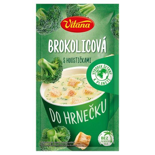 Vitana Do hrnečku Instantná polievka brokolicová so žemličkami 21 g