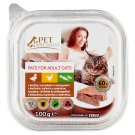 Tesco Pet Specialist Cat Food Pate with Duck, Chicken and Vegetables 100 g