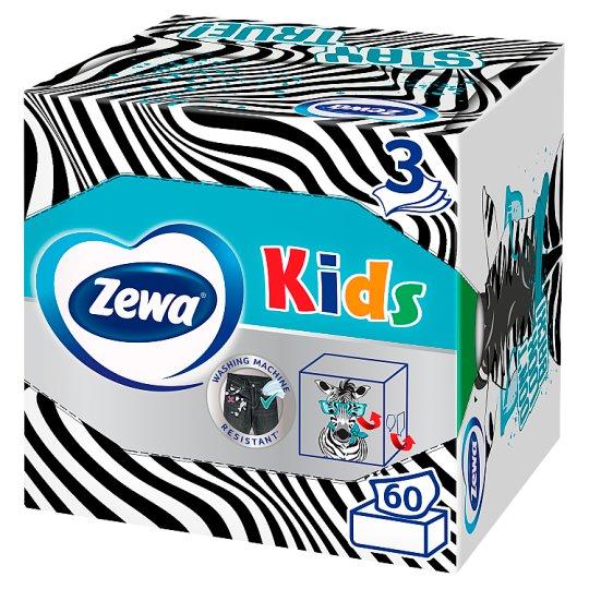 Zewa Kids 3D box papierové vreckovky 3-vrstvové 60 ks