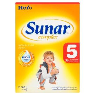 Sunar Complex 5 rozpustný mliečny nápoj pre deti v prášku 2 x 300 g