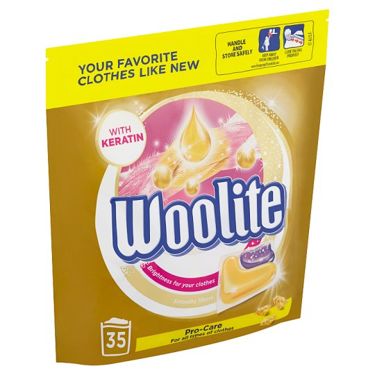 Woolite Pro-Care Gel Capsules for Washing 35 Washes 770 g