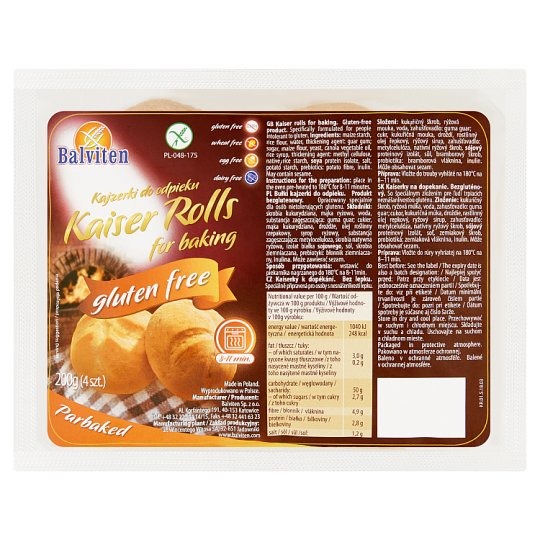 Balviten Kaiser Rolls for Baking 200 g