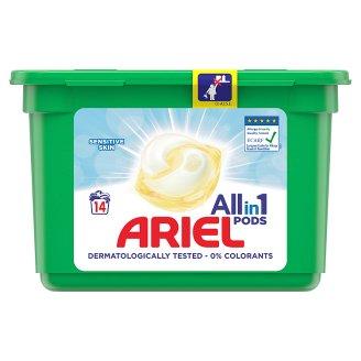 Ariel 3 v 1 Pods Sensitive S Jemným Zložením Na 14 Praní