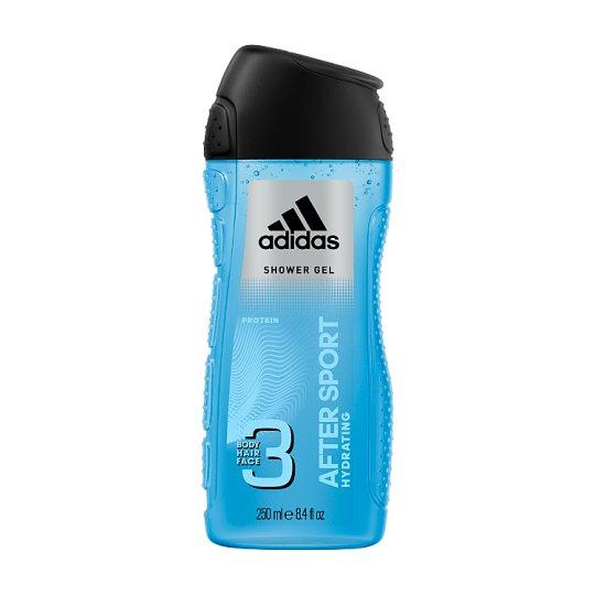 Adidas After Sport sprchový gél na telo, tvár & vlasy 250 ml