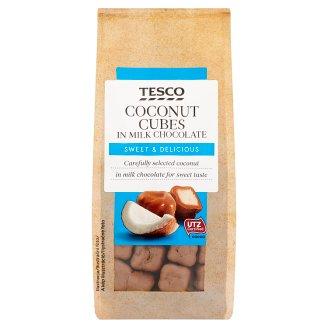 Tesco Kokosové kocky v mliečnej čokoláde 150 g