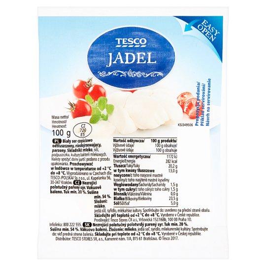 Tesco Jadel nezrejúci polotučný polotvrdý parený syr 100 g