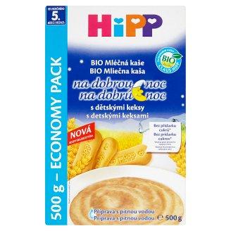 HiPP Bio mliečna kaša na dobrú noc s detskými keksami 2 x 250 g