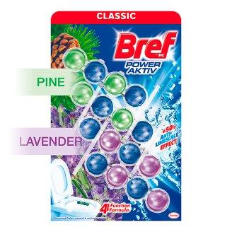 Bref Power Aktiv Lavender Field & Pine Forest tuhý WC blok 4 x 50 g