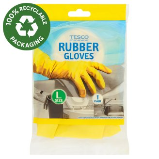 Tesco Rubber Gloves Size L 1 Pair