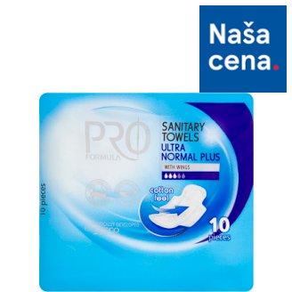 Tesco Pro Formula Normal plus dámske hygienické vložky s krídelkami 10 ks