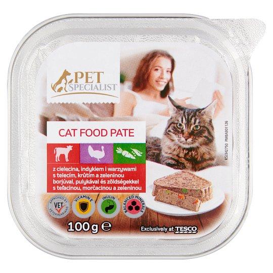 Tesco Pet Specialist Paštéta s teľacinou, morčacinou a zeleninou 100 g