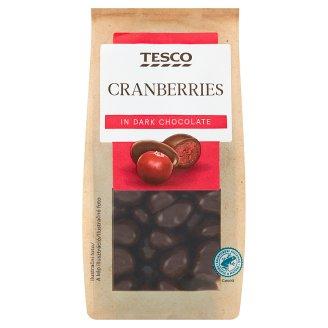 Tesco Brusnice presladené v horkej čokoláde 150 g