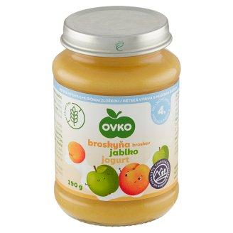 Ovko Dojčenská výživa broskyňová s jablkami a jogurtom 190 g