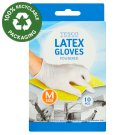 Tesco Latex Gloves Size M 10 pcs