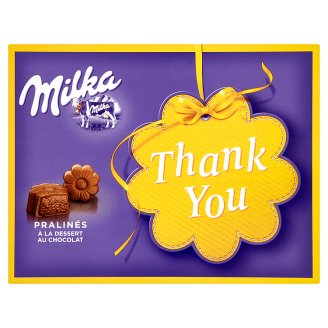 Milka Thank You pralinky z mliečnej čokolády z alpského mlieka s kakaovou náplňou 120 g